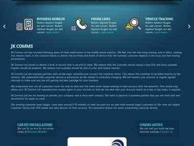 Website design for telecoms consultancy business