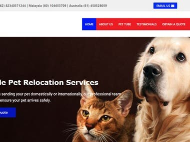 Jetfast Pet Express Website - www.jetfastpetexpress.com