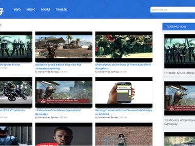 Videolog Blogger Template
