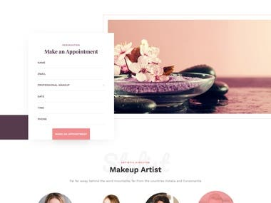 Online Beauty service website