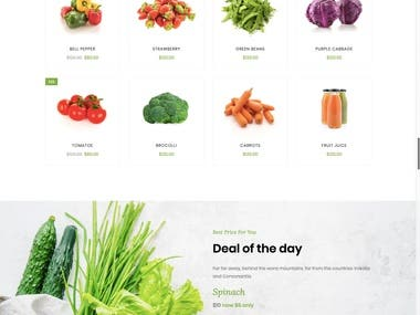 Online Vegetable Shop