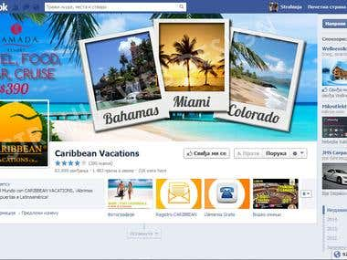Caribbean Vacations - Facebook page design