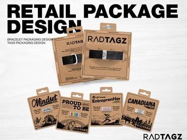 RadTagz Retail Package Design