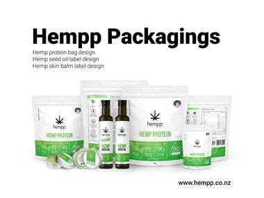 Hempp Products Packaging Design