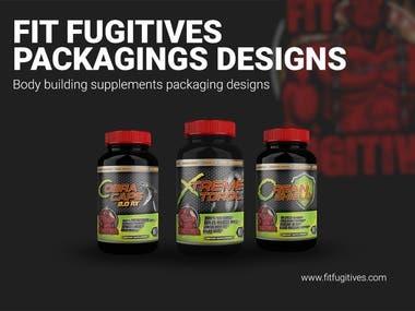 Fit Fugitives Packaging design