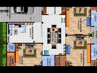 2D Renders/3D Plans