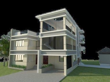 2- Story Duplex Villa Detail Structural Design