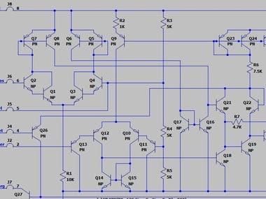 NE555 timer circuit design using LTSpice