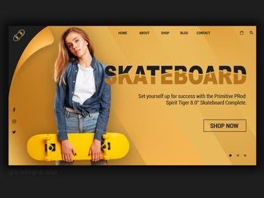 UI Skateboard Website