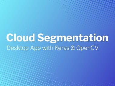 Cloud Segmentation with Keras & OpenCV