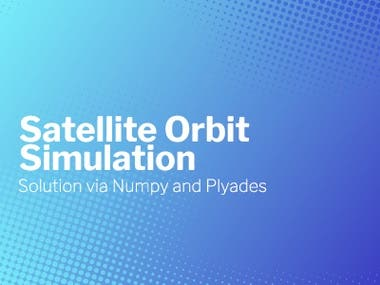 Satellite Orbit Simulation