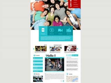 A responsive education site with custom student info panel