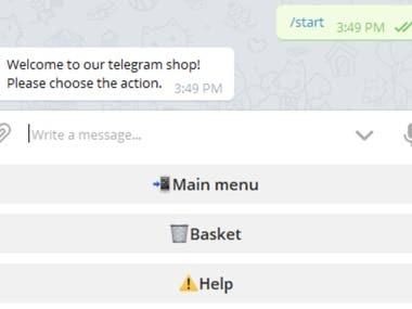 Telegram seller