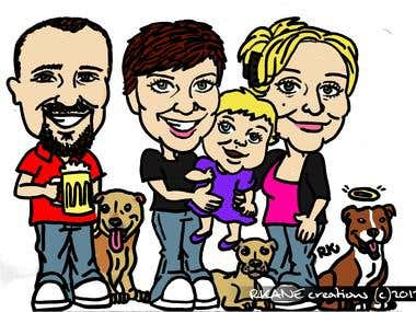 Caricature - Montgomerys