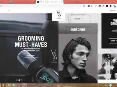 Men's Grooming E-comm Store