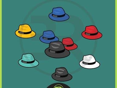 Hat Illustration and Clip Art Design