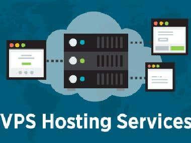 VPS hosting Linux, windows, hosting server.