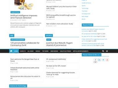 News Website/ News Blog