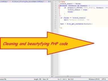 Decoding PHP