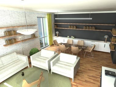 3d interior visualizations
