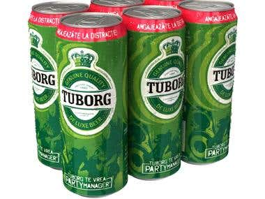"""6 Tuborg at price for 5"""