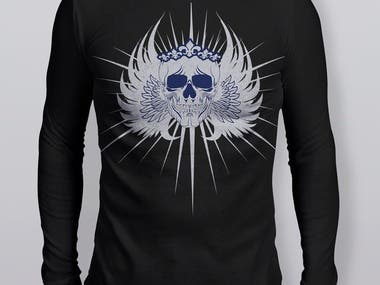 T- SHIRT DESIGNING- SKULL ART DESIGN