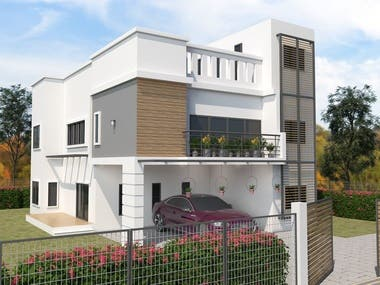 HOUSE PLAN EXTERIOR