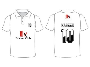 Sports Tshirt with numbers and Logo design
