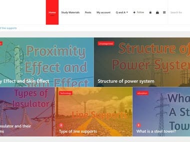 Blog / Article / Study Material Website