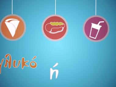 promo video for cafe-fast food company in Greece