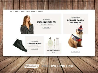 Shopping Website Banners