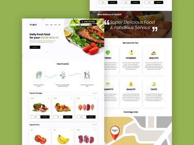 Food supplier website design