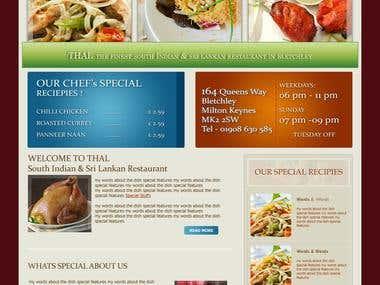 Website For A Restaurent
