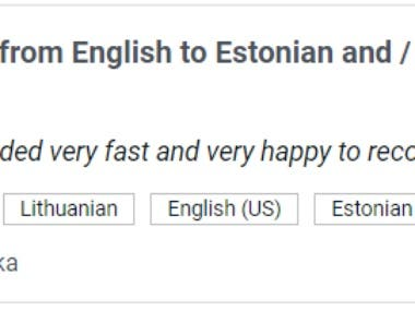 English to Estonian and Lithuanian Languages Translation