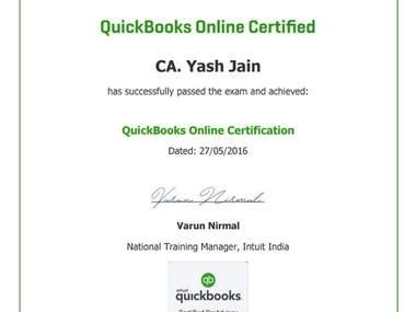 Certificate Of Quickbook Proadvisor