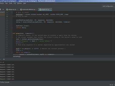 Python Pinger, Traceroute, Server