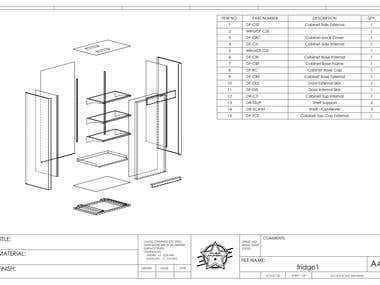 CAD Drawing of Fridge Design