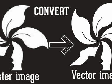 RASTER image into VECTOR image