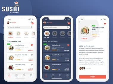 Sushi restaurant App