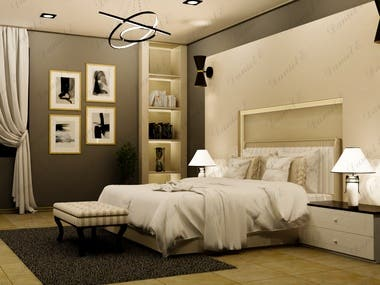 Interior Render of Bedroom