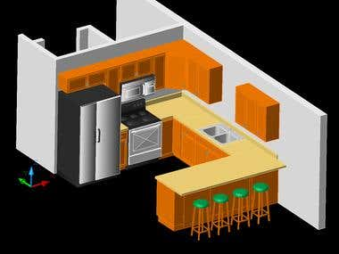 AutoCAD examples of some 2D/3D design work