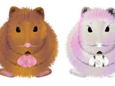 hamsters illustrations
