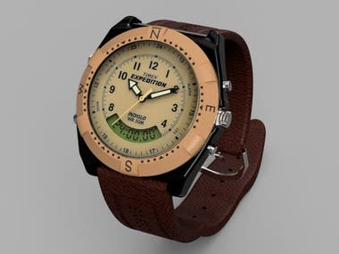 Timex Expedition 3D Render