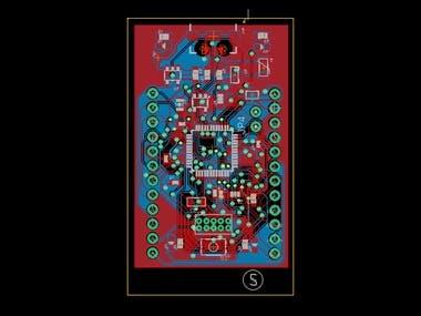 PCB Layout SAMD21 Breakout Board Mini