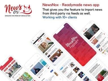 NewsNox - React Native based News App - Wordpress Module