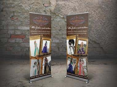 Fashion Design Pull Up Banner