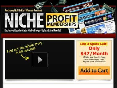 Niche Profit Membership website