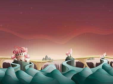 2D Illustration_Backgrounds in game