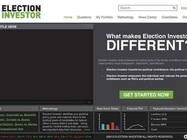 Election Investor Website