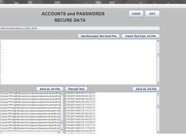 User Accounts and Passwords Management System